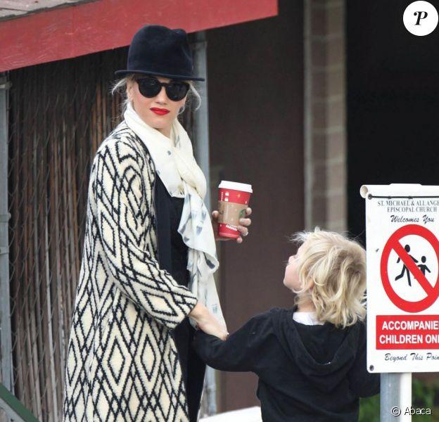 Gwen Stefani dépose son adorable fils Zuma à l'école dans le quartier de Studio City à Los Angeles le 6 décembre 2012.