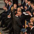 L'Union européenne, en présence de François Hollande et Angela Merkel, et représentée par le président du Conseil européen Herman Van Rompuy, le président de la Commission européenne José Manuel Barroso et le président du Parlement européen Martin Schulz, s'est vu décerner le 10 décembre 2012 à l'Hôtel de Ville d'Oslo le prix Nobel de la Paix, en présence de la famille royale de Norvège, d'une vingtaine de dirigeants européens et de l'acteur Gerard Butler en charmante compagnie.