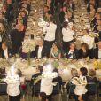 Image d'ambiance lors du dîner de gala en l'honneur des lauréats des prix Nobel, à l'Hôtel de Ville de Stockholm le 10 décembre 2012.