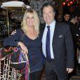 Daniel Russo et sa femme à la première édition du prix Grand Colbert au restaurant Le Grand Colbert à Paris le 17 décembre 2012.