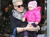 Pink : Shopping de Noël avec son adorable petite fille Willow
