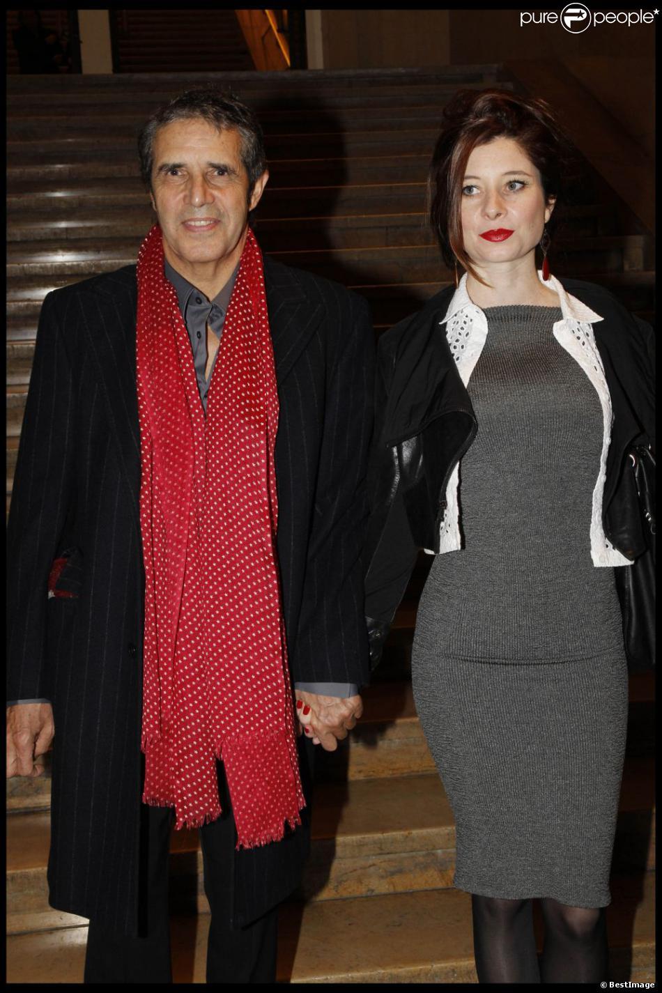 Julien Clerc et Hélène Grémillon à Paris, le 5 décembre 2011