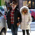 Goldie Hawn et Kurt Russell se promenant dans les rues d'Aspen (Colorado), le vendredi 21 décembre 2012.
