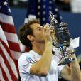 Andy Murray le 11 septembre 2012 lors de la finale de l'US Open à New york le 10 septembre 2012