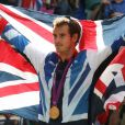 UK's Andy Murray gagne la médaille d'or durant les Jeux olympiques, le 14 août 2012, Londres.