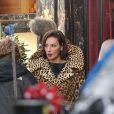 Paz Vega sur le tournage du biopic Grace of Monaco, d'Olivier Dahan à Paris, le 6 janvier 2013.