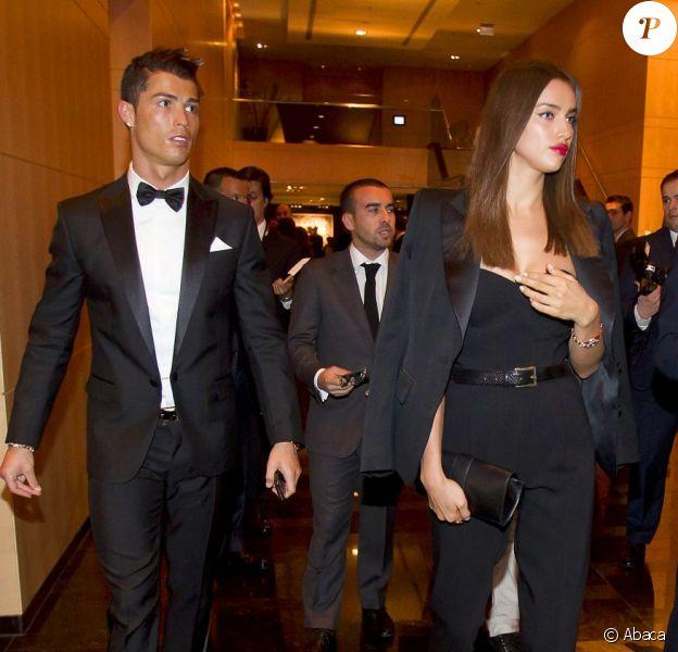 Cristiano Ronaldo et Irina Shayk lors de la soirée de remise du Ballon d'or le 7 janvier 2013 à Zurich