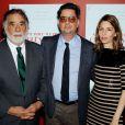 Francis Ford Coppola, Roman Coppola et Sofia Coppola lors de l'avant-première de A Glimpse Inside The Mind of Charles Swan lll à New York le 10 janvier 2013.