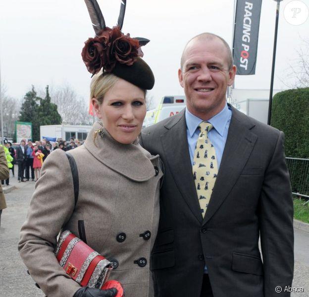 Zara Phillips et Mike Tindall à Cheltenham le 14 mars 2012