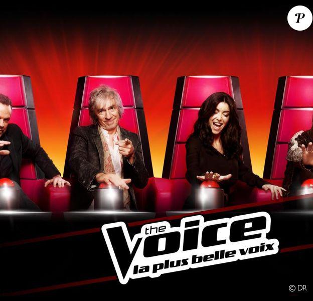 Jenifer, Garou, Florent Pagny et Louis Bertignac dans The Voice saison 2, le samedi 2 février 2013 sur TF1