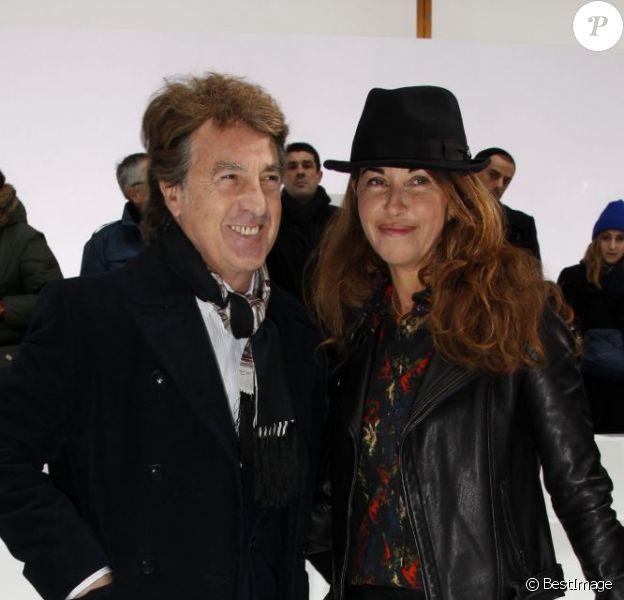 Francois Cluzet et sa femme Narjiss Cluzet au défilé Dior, le 19 janvier 2013.