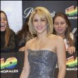 Shakira à la soirée 40 Principales Awards, à Madrid, le 9 décembre 2011.