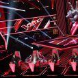 Les coachs sur le plateau de la deuxième saison de The Voice