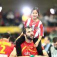 L'équipe d'Espagne de handball fête son deuxième titre mondial après avoir écrasé le Danemark 35-19, le 27 janvier 2013 à Barcelone.