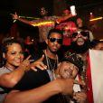 Exclusif - Christina Milian, Diddy (en haut avec les bras écartés), Fabolous, French Montana et Rick Ross s'éclatent au LIV à Miami Beach. Le 27 janvier 2013.