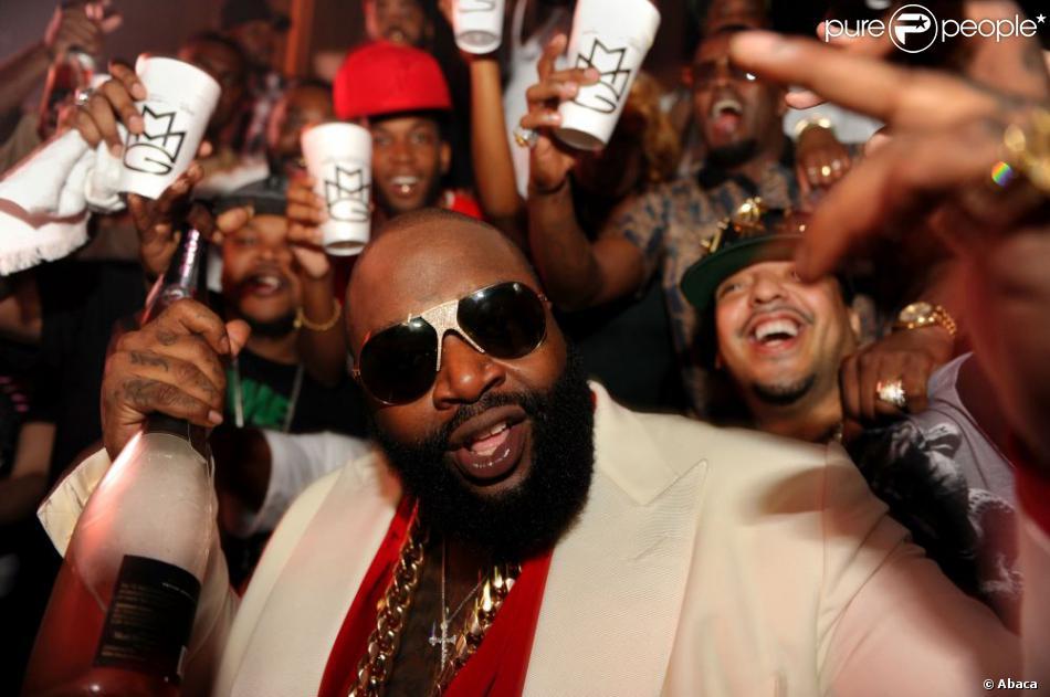 Exclusif - Rick Ross fête son 37e anniversaire au LIV à Miami Beach. Le 27 janvier 2013.