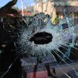 Un impact de balle résultant de l'attaque dont le rappeur Rick Ross fut victime dans la nuit du 27 au 28 janvier 2013 à Fort Lauderdale.
