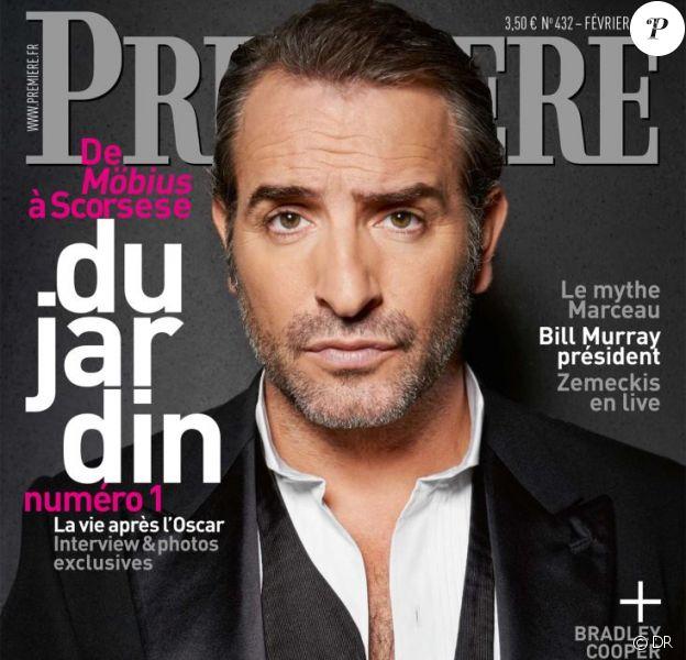 Jean Dujardin, en couverture de Première, fait le point, un an après les Oscars.