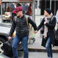 Exclu - Robin Wright et son petit ami Ben Foster arrivent à la gare de New York, le 30 janvier 2013.