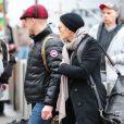 Exclu - Robin Wright et son petit ami Ben Foster à la gare de New York, le 30 janvier 2013.
