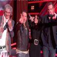 Les coachs, Jenifer, Garou, Florent Pagny et Louis Bertignac reprennent Envole moi de Jean-Jacques Goldman dans The Voice 2 le samedi 2 février 2013 sur TF1