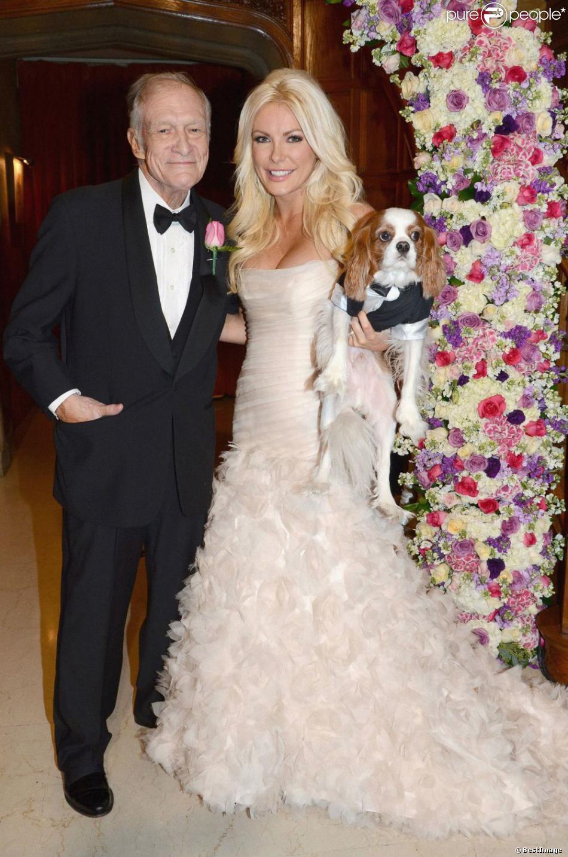 Mariage de Hugh Hefner et Crystal Harris au célèbre manoir Playboy à Los Angeles le 31 décembre 2012.
