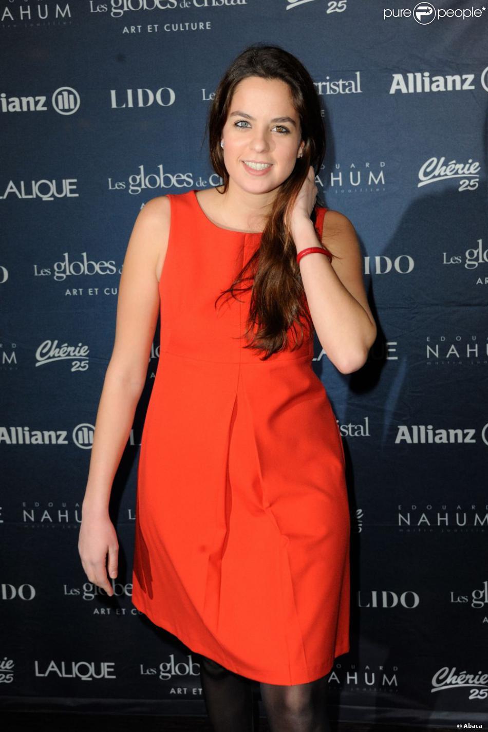Anouchka Delon - 8e cérémonie des Globes de Cristal au Lido à Paris, le 4 Fevrier 2013.