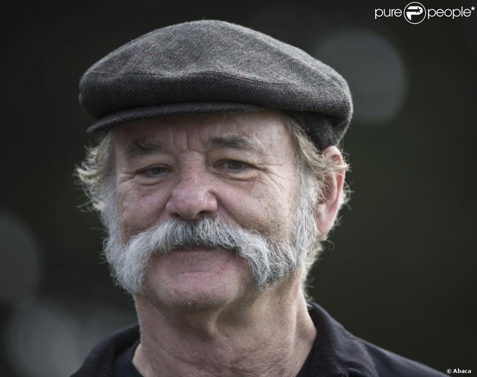 Bill Murray et sa sublime barbe au Monterey Peninsula Country Club lors du AT&T National Pro Am de Pebble Beach le 7 février 2013