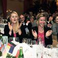Alizé Cornet, Kristina Mladenovic et Pauline Parmentier lors du dîner officiel de Fed Cup à Limoges le 7 février 2013 avant la rencontre face à l'Allemagne