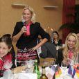 Barbara Rittner, capitaine de l'équipe de Fed Cup d'Allemagne lors du dîner officiel à Limoges le 7 février 2013 avant la rencontre face à la France
