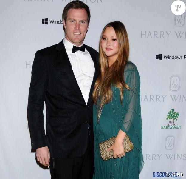 Devon Aoki, enceinte, et James Bailey à Beverly Hills, le 3 novembre 2012.