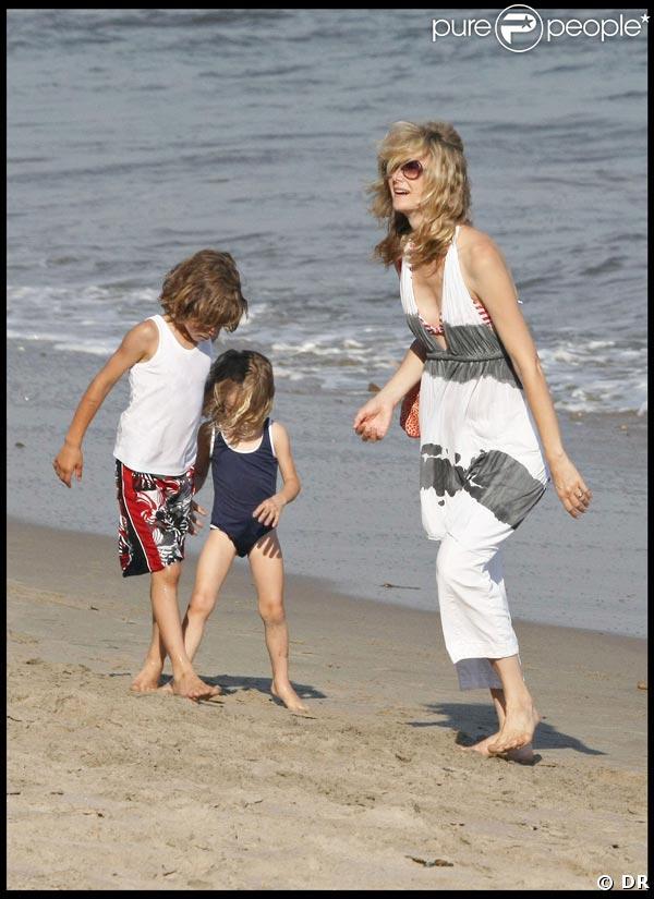 Laura Dern et les enfants à Malibu