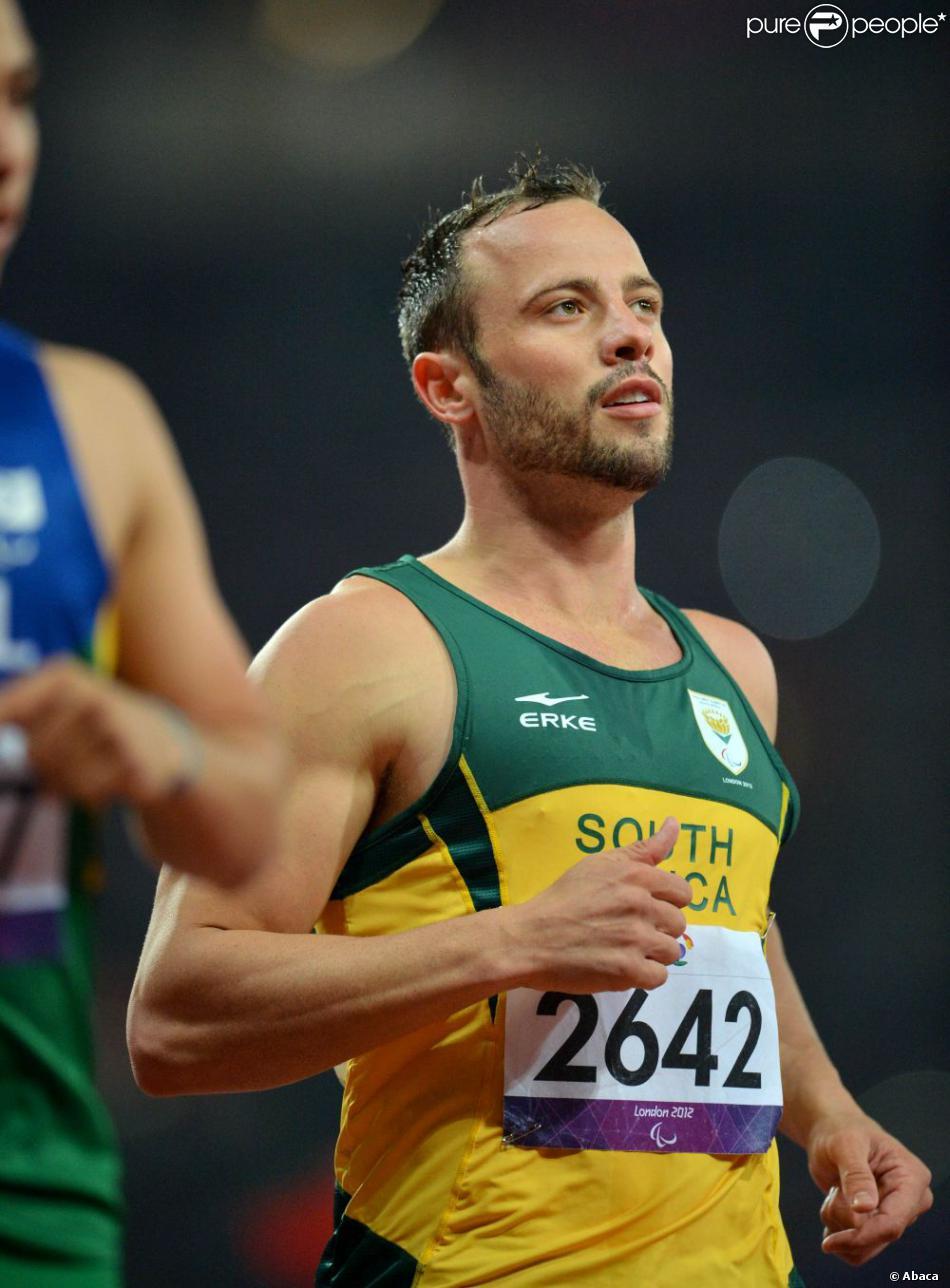 L'athlète Oscar Pistorius lors des Jeux paralympiques de Londres en septembre 2012