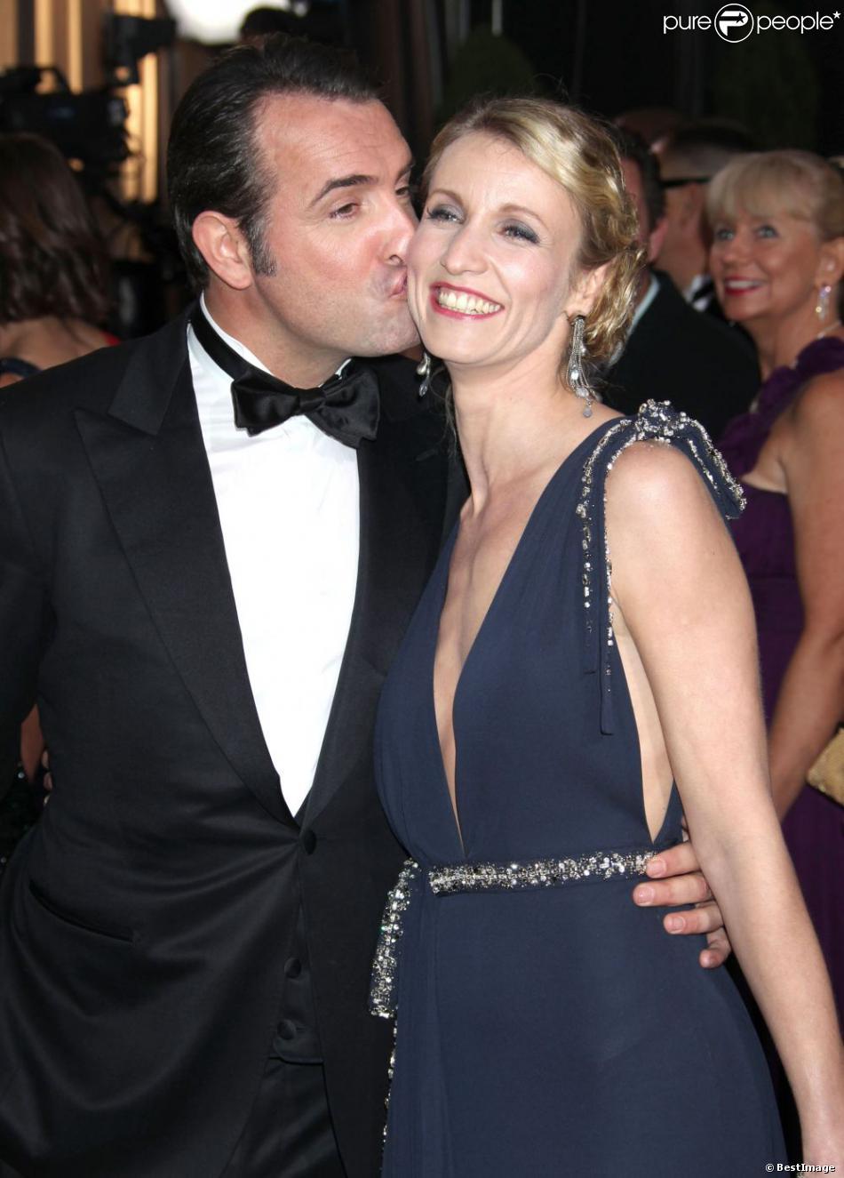 Jean Dujardin et Alexandra Lamy lors de la 84e cérémonie des Oscars, le 26 février 2012.