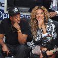 Jay-Z et Beyoncé lors du All Star Game 2013 à Houston, le 17 février 2013