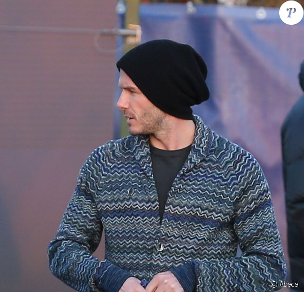 David Beckham au Camp des Loges, le 19 février 2013.