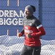 David Beckham s'entraîne au Camp des Loges, le 19 février 2013.