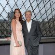 L'acteur Alain Delon et sa fille Anoushka, le 12 juin 2012 à Paris.