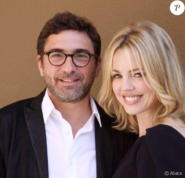 Melissa George et son compagnon Jean-David Blanc au photocall de la série Hunted à Los Angeles, le 31 juillet 2012.