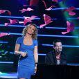 """Exclu -  Lorie  et Emmanuelle Moire à l'enregsitrement de l'émission """"Samedi, on chante Jean-Jacques  Goldman """" pour TF1, à Paris le 17 décembre 2012."""
