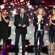 """Exclu - Amel Bent, Johnny Hallyday, Lorie et Shy'm à l'enregistrement de l'émission """"Samedi, on chante Jean-Jacques Goldman"""" pour TF1, à Paris le 17 décembre 2012"""