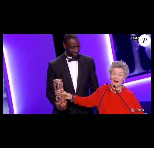 Emmanuelle Riva sacrée meilleure actrice au côté d'Omar Sy.
