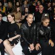 Janet Jackson et son compagnon Wissam al Mana au défilé Versace automne-hiver 2013-2014 de la Fashion Week de Milan, le 22 février 2013.
