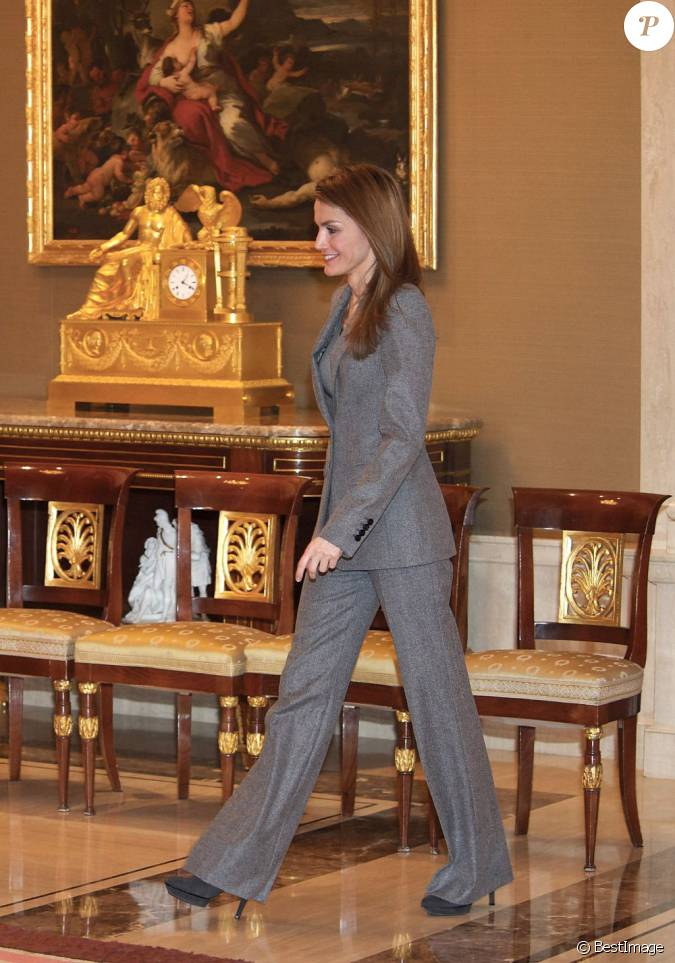 la princesse letizia d 39 espagne en audience au palais de la. Black Bedroom Furniture Sets. Home Design Ideas