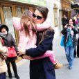 Katie Holmes et sa fille Suri dans les rues de New York, le 2 janvier 2013.