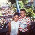 Richard Virenque et sa première femme le 2 juillet 2000
