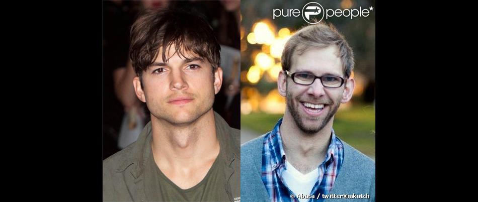 Ashton Kutcher et son frère jumeau Michael.