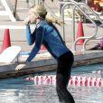 Kendra Wilkinson lors d'en entraînement avant le début de l'émission Splash !, le 1er mars à Los Angeles