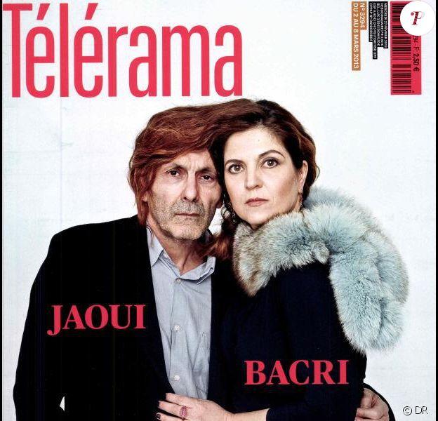 Agnès Jaoui et Jean-Pierre Bacri en couverture de Télérama, 27 février 2013