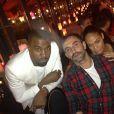 Kim Kardashian à une soirée avec son compagnon Kanye West et Riccardo Tisci, directeur de la création chez Givenchy.